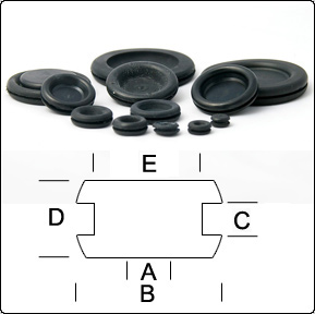 Blind / Blanking Grommets | Dee Bee on desk grommets, automotive wiring grommets, large metal grommets, electrical grommets,