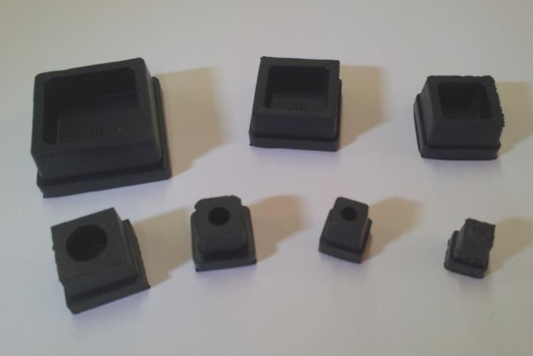 Square Rubber Black