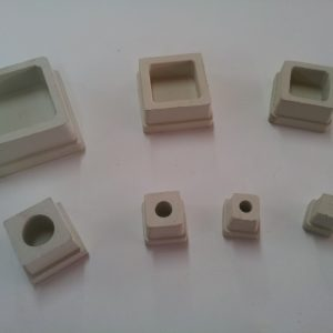 Square Rubber White