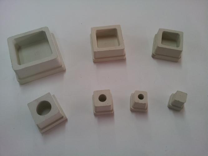 Square Rubber White